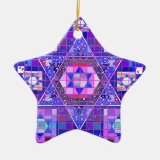 Star of David mosaic Ceramic Star Ornament