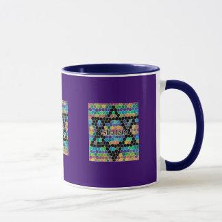 Star of David Mosaic-Shalom Mug