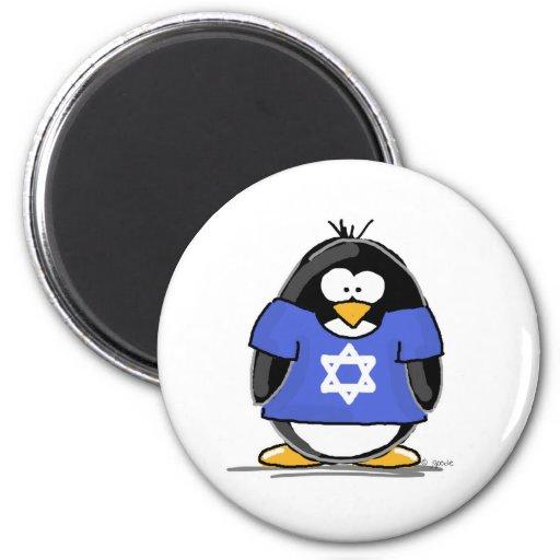 Star of David Penguin Fridge Magnets