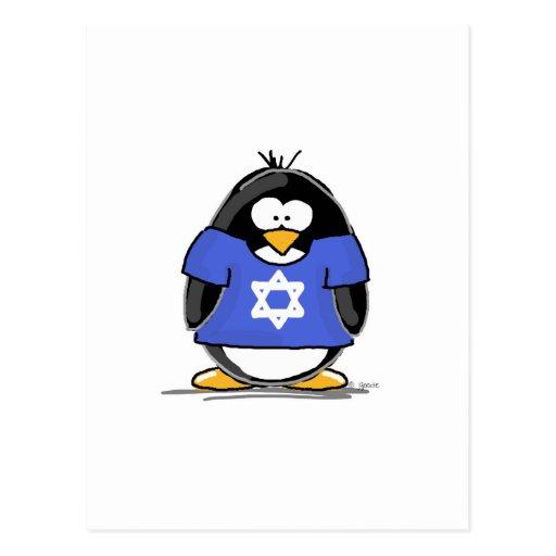Star of David Penguin Postcards
