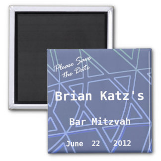 Star of David Please Save the Date Bar Mitzvah Magnet