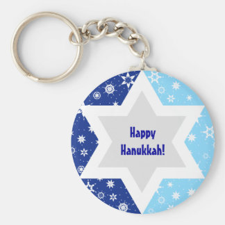 Star of David Snowflake Keychain