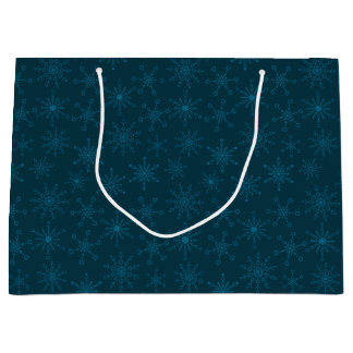 Star of David Snowflakes Large Gift Bag