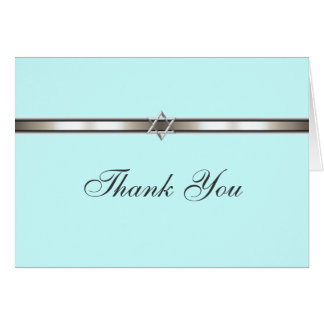 Star of David Thank You Card Any Color