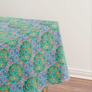 Star of David Turquoise fine Tablecloth
