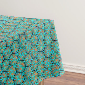 Star of David Turquoise Tablecloth