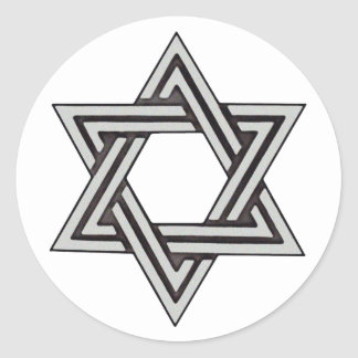 Star of David Wedding Invitation Envelope Seals