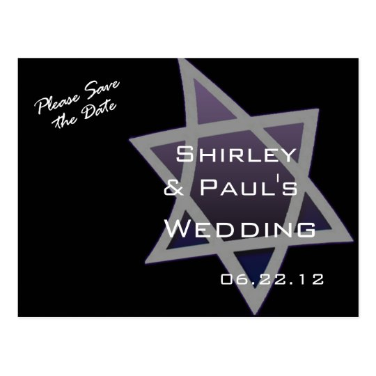 Star of David Wedding Postcard