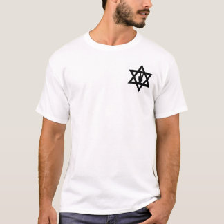 STAR OF DAVID WITH PEACE SIGN MEN OR WOMEN T-SHIRT