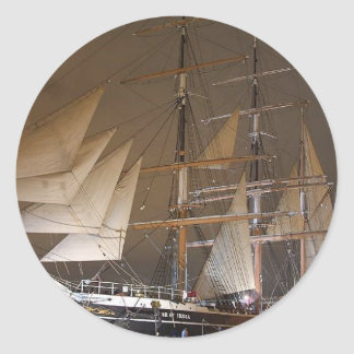 Star Of India Sails Sailing Ships Boats Classic Round Sticker