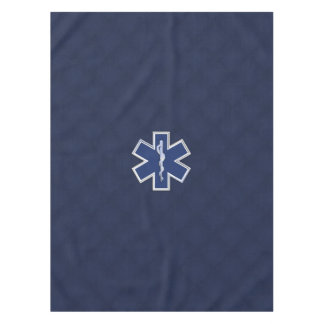 Star of Life Paramedic Carbon Fiber Style Tablecloth