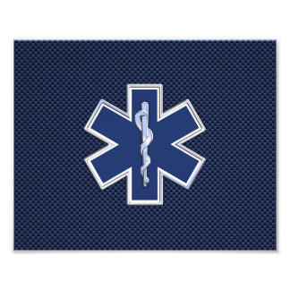 Star of Life Paramedic Emergency Medical Services Photographic Print