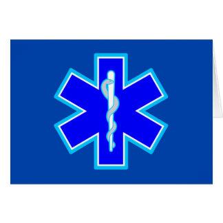 Star of Life Paramedic Symbol EMS Blue Card