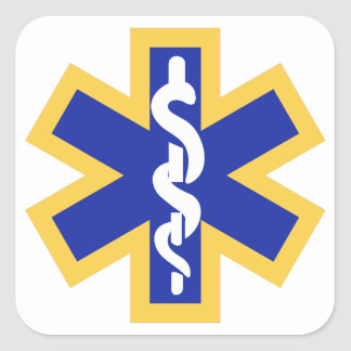 Star of life square sticker
