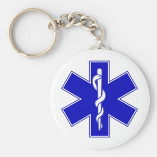 Star of Life symbol Keychain