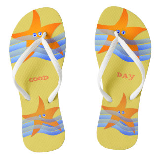Star of sea flip flops