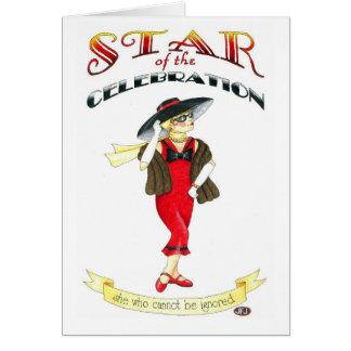 Star of the Celebration Birthday Card