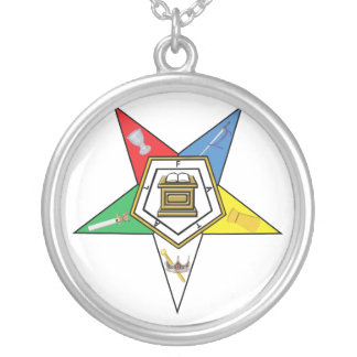 Star of the OES Silver Plated Necklace