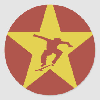 Star of the Revolution Classic Round Sticker