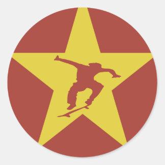 Star of the Revolution Round Sticker