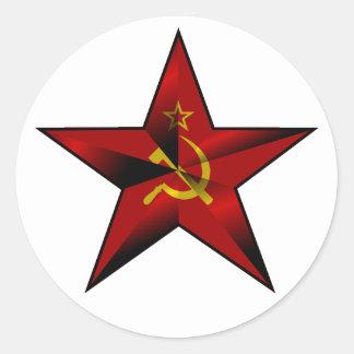 Star_of_the_Soviet_Union Round Sticker