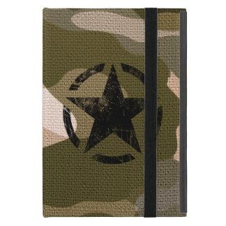 Star on Burlap style iPad Mini Covers