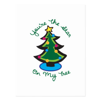 Star On My Tree Postcard