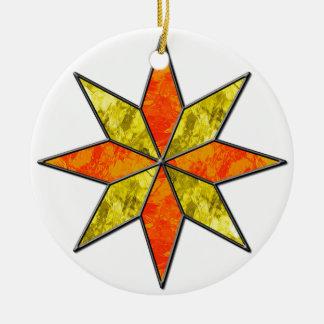 Star Round Ceramic Ornament