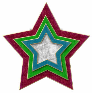 Star Ornament Template Large Photo Sculpture Ornament