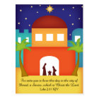 Star over Bethlehem Christmas Nativity Postcard
