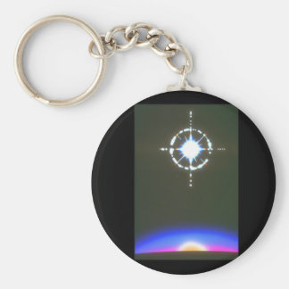 Star over Planet. (star;planet;_Space Scenes Basic Round Button Keychain