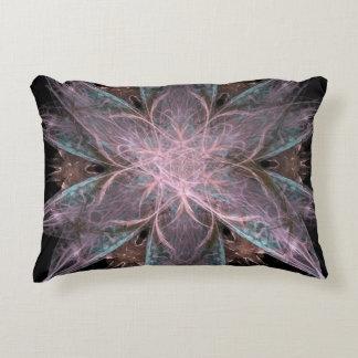 Star Pattern Fractal Accent Pillow