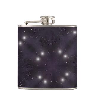 Star pattern hip flask