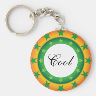 Star pattern Super colorful custom button keychain