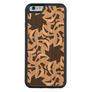 Star Pattern Wood Carved iPhone Case