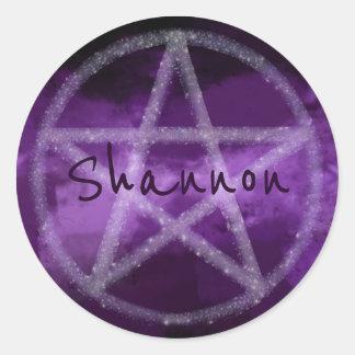 """Star-Pentacle"" Classic Round Sticker"