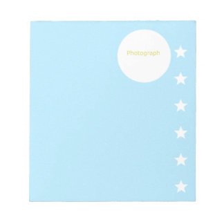 Star Photograph Template Notepads