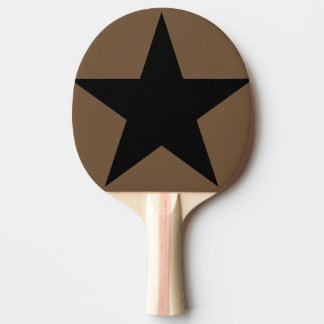 Star / Ping Pong Paddle, Red Rubber Back Ping Pong Paddle