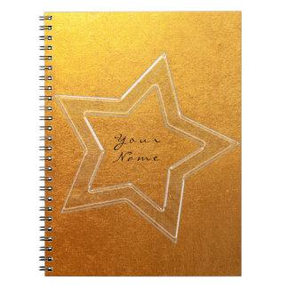Star Pink Rose Gold Metallic Minimal Notebook