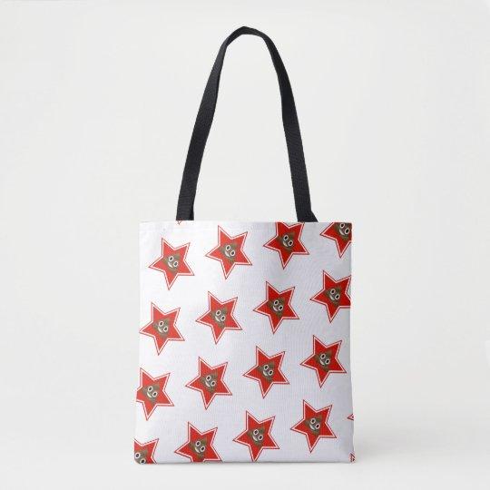 Star Poo Emoji Tote Bag