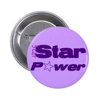 Star Power 2 Inch Round Button