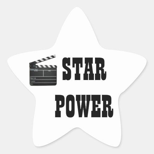 STAR POWER MOVIE CLAPBOARD SLATE STICKER