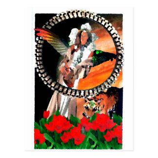 Star Princess and Tiger CricketDiane Fantasy Art Postcard