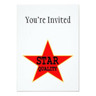 "Star Quality 5"" X 7"" Invitation Card"