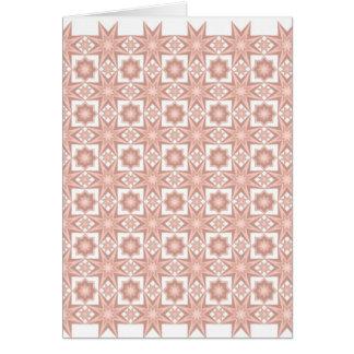 Star Quilt Pattern....Peach Card
