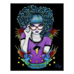Star Rainbow Swallow Tattoo Angel Poster