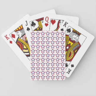 Star Red, White, Blue Pattern Playing Cards