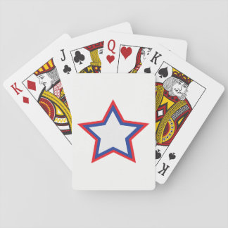 Star Red, White, Blue  Playing Cards