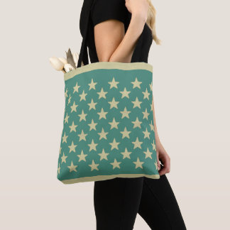 Star Retro Off White Stars Background Color Choice Tote Bag