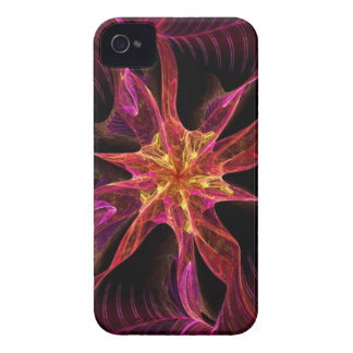 Star Ribbon Red - Abstract fractal pattern iPhone 4 Case